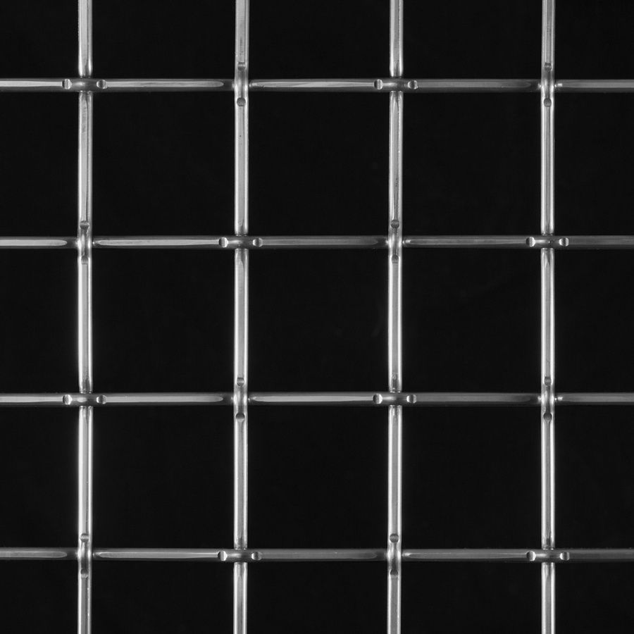 "McNICHOLS® Wire Mesh Square, Aluminum, Alloy 1350-H19, Woven - Lock Crimp Weave, 2.0000"" x 2.0000"" Opening (Square), 0.192"" Thick (6 Gauge) Wire Diameter, 83% Open Area"
