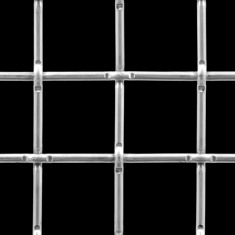 "McNICHOLS® Wire Mesh Square, Aluminum, Type 1350-H18, Woven - Lockcrimp Weave, 2"" x 2"" Opening (Square), 0.250"" Thick (2-3/4 Gauge) Wire Diameter, 79% Open Area"