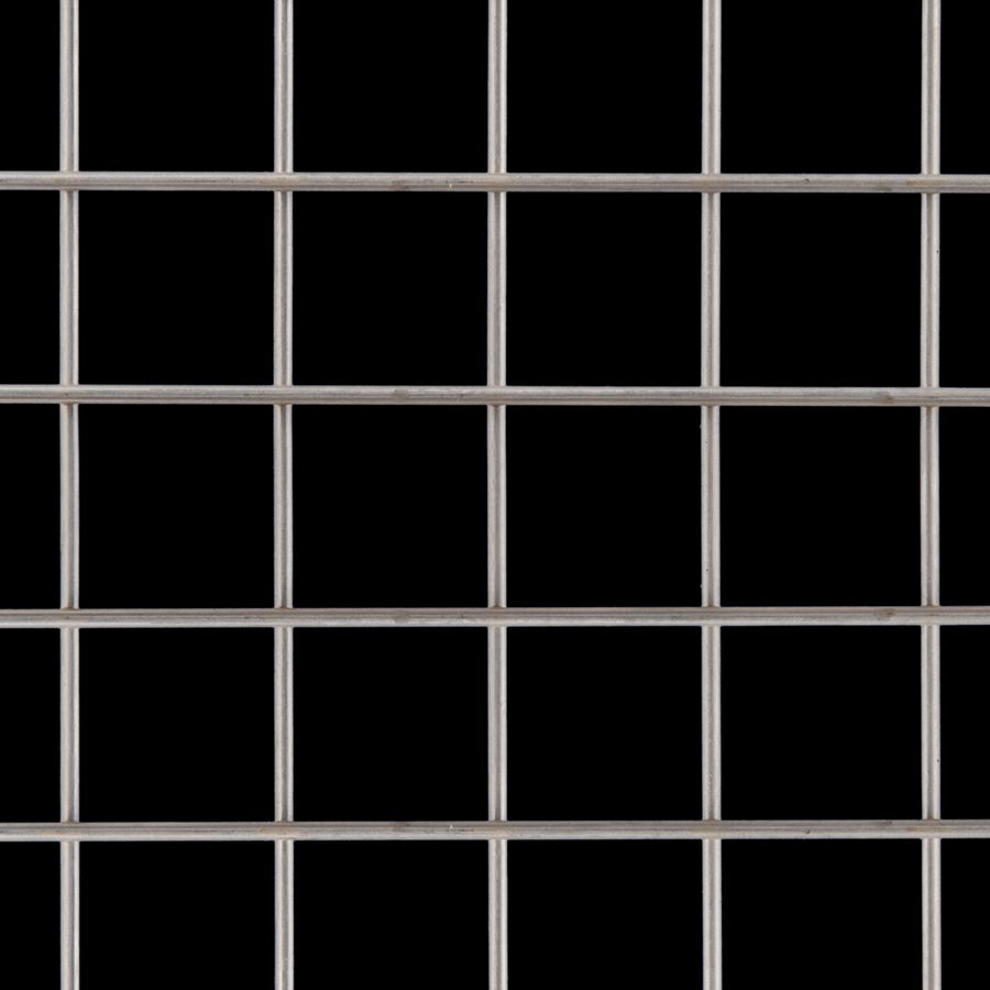 "McNICHOLS® Wire Mesh Square, Stainless Steel, Type 304, Welded - Trimmed, 1 x 1 Mesh (Square), 0.9370"" x 0.9370"" Opening (Square), 0.063"" Thick Wire Diameter, 88% Open Area"