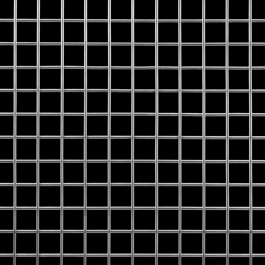 "McNICHOLS® Wire Mesh Square, Stainless Steel, Type 304, Welded - Trimmed, 2 x 2 Mesh (Square), 0.4370"" x 0.4370"" Opening (Square), 0.063"" Thick (16 Gauge) Wire Diameter, 76% Open Area"