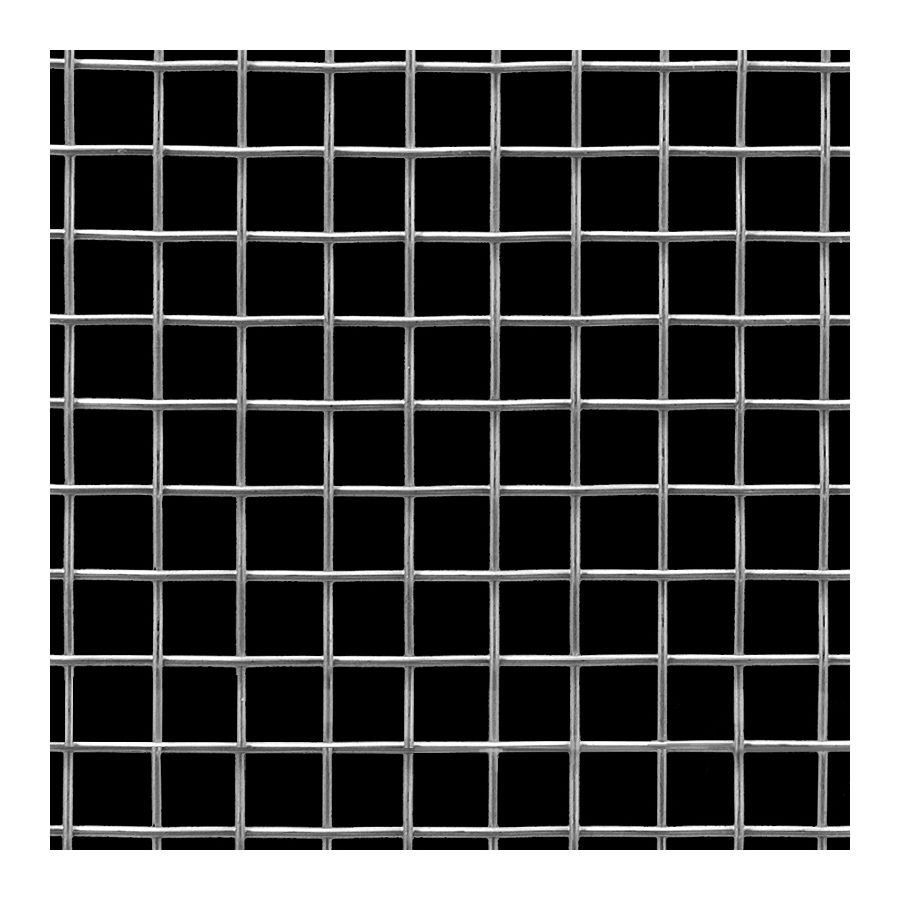 "McNICHOLS® Wire Mesh Square, Stainless Steel, Type 304, Woven - Plain Weave, 2 x 2 Mesh (Square), 0.4530"" x 0.4530"" Opening (Square), 0.047"" Thick (18 Gauge) Wire Diameter, 82% Open Area"