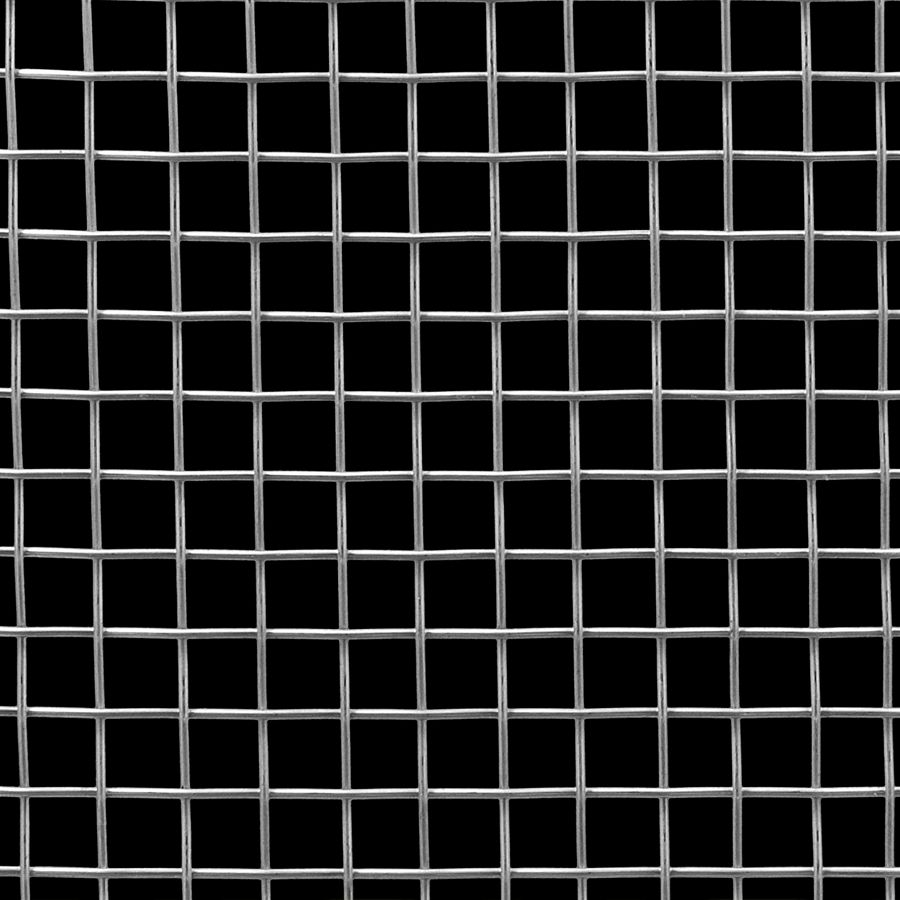 "McNICHOLS® Wire Mesh Square, Stainless Steel, Type 304, Woven - Plain Weave, 2 x 2 Mesh (Square), 0.4370"" x 0.4370"" Opening (Square), 0.063"" Thick (16 Gauge) Wire Diameter, 76% Open Area"