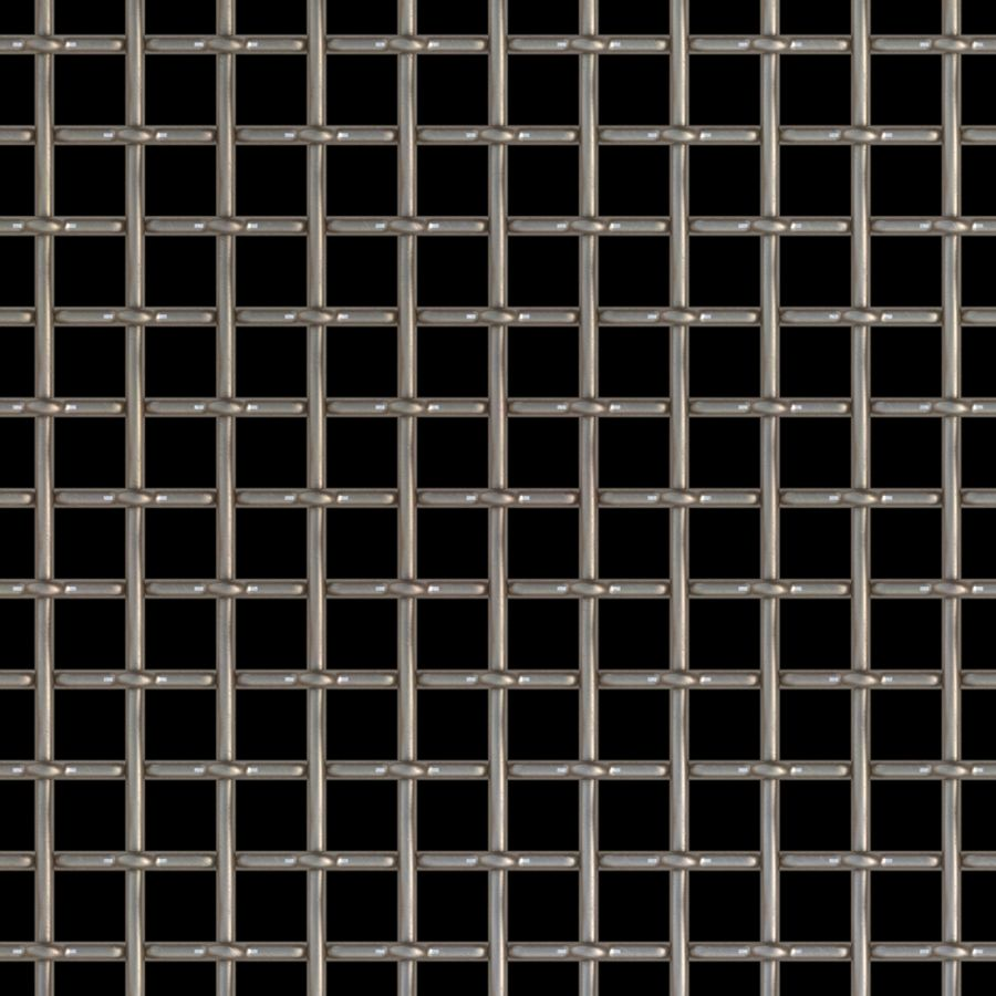 "McNICHOLS® Wire Mesh Square, Stainless Steel, Type 304, Woven - Plain Weave, 2 x 2 Mesh (Square), 0.3950"" x 0.3950"" Opening (Square), 0.105"" Thick (12 Gauge) Wire Diameter, 62% Open Area"