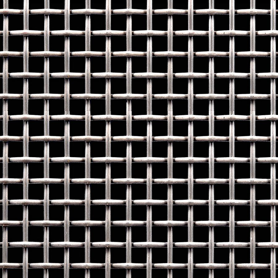 "McNICHOLS® Wire Mesh Square, Stainless Steel, Type 304, Woven - Plain Weave, 2 x 2 Mesh (Square), 0.3650"" x 0.3650"" Opening (Square), 0.135"" Thick (10 Gauge) Wire Diameter, 53% Open Area"