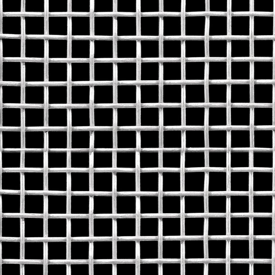 "McNICHOLS® Wire Mesh Square, Stainless Steel, Type 304, Woven - Plain Weave, 3 x 3 Mesh (Square), 0.2703"" x 0.2703"" Opening (Square), 0.063"" Thick (16 Gauge) Wire Diameter, 66% Open Area"