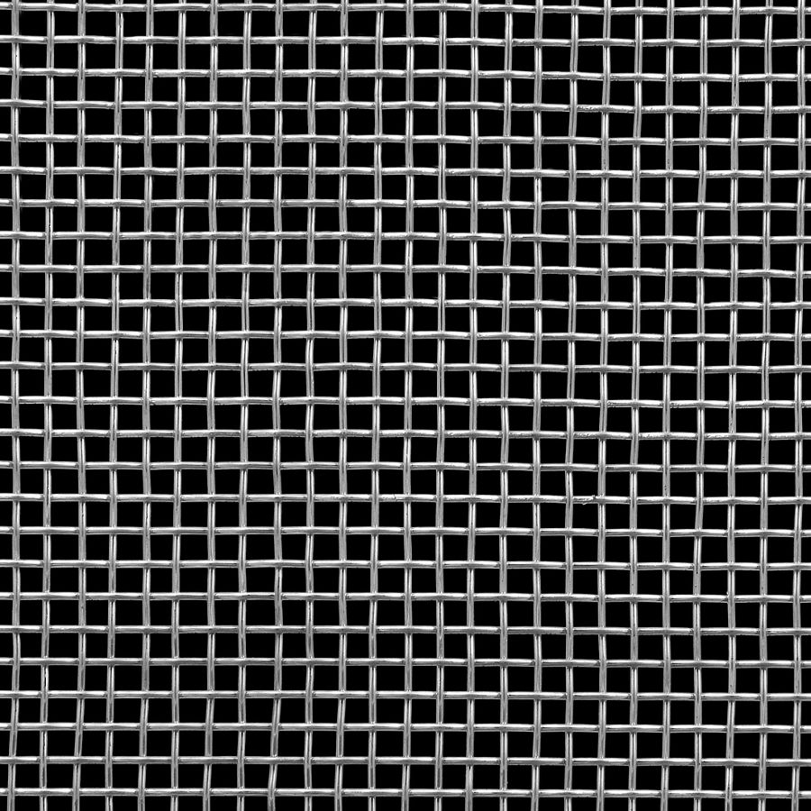 """McNICHOLS® Wire Mesh Square, Stainless Steel, Type 304, Woven - Plain Weave, 3 x 3 Mesh (Square), 0.2533"""" x 0.2533"""" Opening (Square), 0.080"""" Thick Wire Diameter, 58% Open Area"""