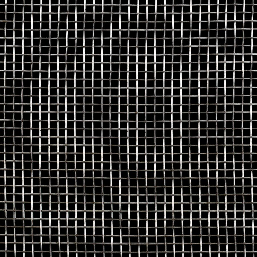 "McNICHOLS® Wire Mesh Square, Stainless Steel, Type 304, Woven - Plain Weave, 4 x 4 Mesh (Square), 0.2030"" x 0.2030"" Opening (Square), 0.047"" Thick (18 Gauge) Wire Diameter, 66% Open Area"