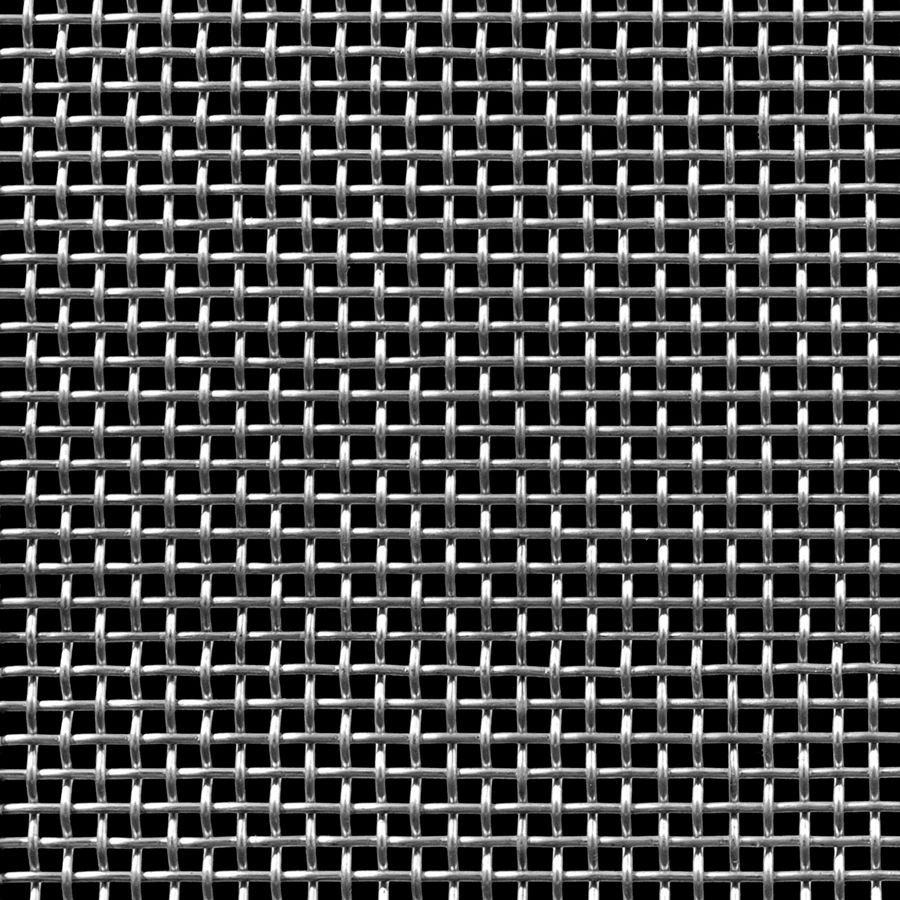 "McNICHOLS® Wire Mesh Square, Stainless Steel, Type 304, Woven - Plain Weave, 4 x 4 Mesh (Square), 0.1700"" x 0.1700"" Opening (Square), 0.080"" Thick (14 Gauge) Wire Diameter, 46% Open Area"