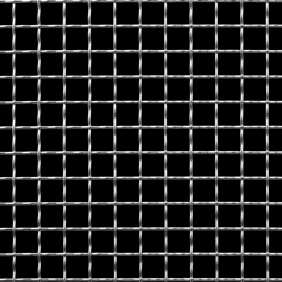 "McNICHOLS® Wire Mesh Square, Stainless Steel, Type 304, Woven - Intercrimp Weave, I3I3 Crimp Style, 0.5000"" x 0.5000"" Opening (Square), 0.063"" Thick (16 Gauge) Wire Diameter, 79% Open Area"