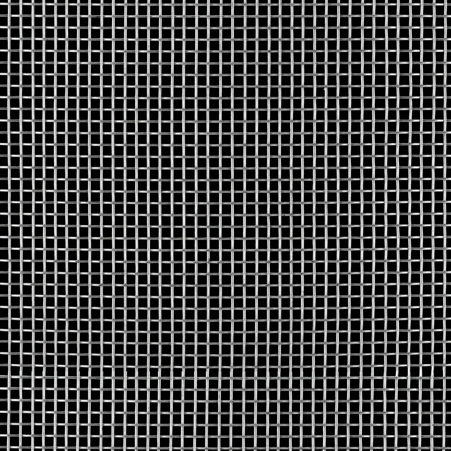 "McNICHOLS® Wire Mesh Square, Stainless Steel, Type 304, Woven - Plain Weave, 5 x 5 Mesh (Square), 0.1590"" x 0.1590"" Opening (Square), 0.041"" Thick (19 Gauge) Wire Diameter, 63% Open Area"