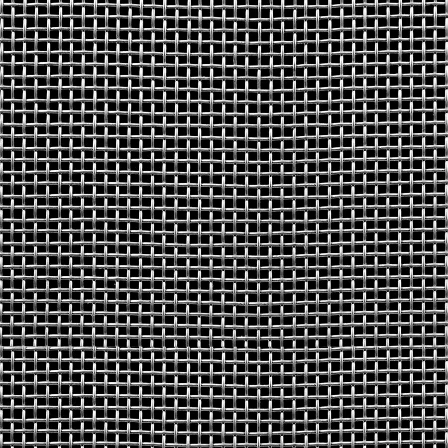 "McNICHOLS® Wire Mesh Square, Stainless Steel, Type 304, Woven - Plain Weave, 6 x 6 Mesh (Square), 0.1197"" x 0.1197"" Opening (Square), 0.047"" Thick Wire Diameter, 52% Open Area"