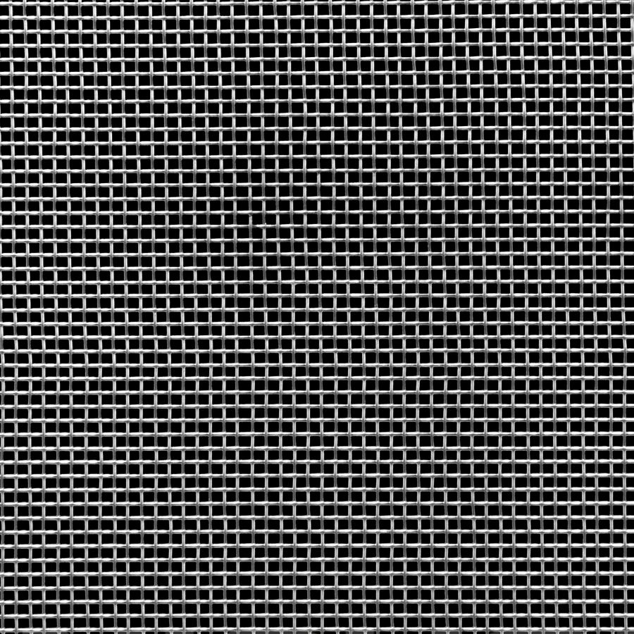 """McNICHOLS® Wire Mesh Square, Stainless Steel, Type 304, Woven - Plain Weave, 8 x 8 Mesh (Square), 0.0930"""" x 0.0930"""" Opening (Square), 0.032"""" Thick Wire Diameter, 55% Open Area"""