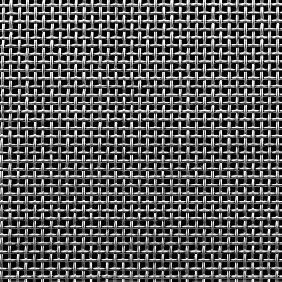 "McNICHOLS® Wire Mesh Square, Stainless Steel, Type 304, Woven - Plain Weave, 8 x 8 Mesh (Square), 0.0620"" x 0.0620"" Opening (Square), 0.063"" Thick (16 Gauge) Wire Diameter, 25% Open Area"
