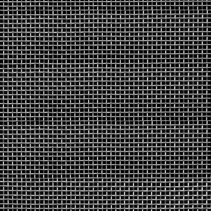 """McNICHOLS® Wire Mesh Square, Stainless Steel, Type 304, Woven - Plain Weave, 12 x 12 Mesh (Square), 0.0653"""" x 0.0653"""" Opening (Square), 0.018"""" Thick Wire Diameter, 61% Open Area"""
