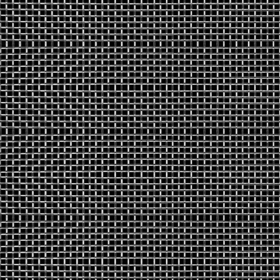 "McNICHOLS® Wire Mesh Square, Stainless Steel, Type 304, Woven - Plain Weave, 12 x 12 Mesh (Square), 0.0603"" x 0.0603"" Opening (Square), 0.023"" Thick (24 Gauge) Wire Diameter, 52% Open Area"