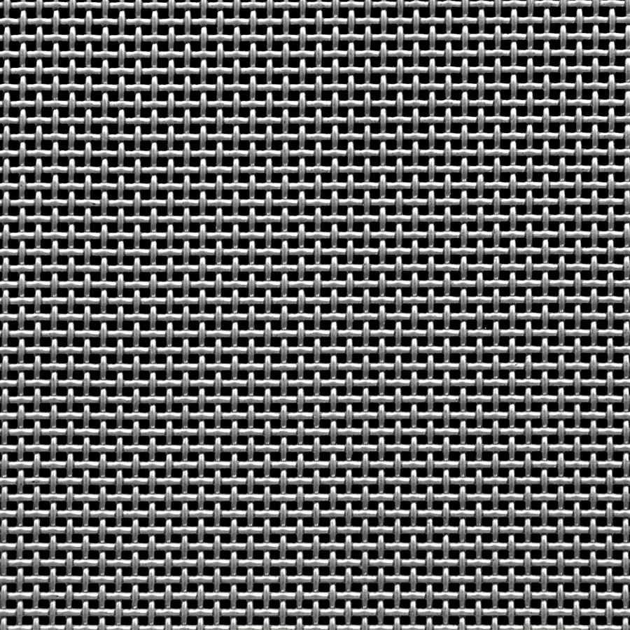 "McNICHOLS® Wire Mesh Square, Stainless Steel, Type 304, Woven - Plain Weave, 12 x 12 Mesh (Square), 0.0483"" x 0.0483"" Opening (Square), 0.035"" Thick (20 Gauge) Wire Diameter, 33% Open Area"
