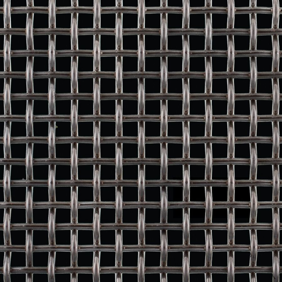 "McNICHOLS® Wire Mesh Square, Stainless Steel, Type 304, Woven - Plain Weave, 0.2500"" x 0.2500"" Opening (Square), 0.120"" Thick (11 Gauge) Wire Diameter, 46% Open Area"