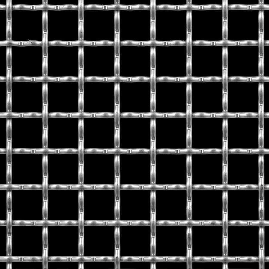 "McNICHOLS® Wire Mesh Square, Stainless Steel, Type 304, Woven - Intercrimp Weave, I3I3 Crimp Style, 3/4"" x 3/4"" Mesh (Square), 0.6300"" x 0.6300"" Opening (Square), 0.120"" Thick (11 Gauge) Wire Diameter, 71% Open Area"
