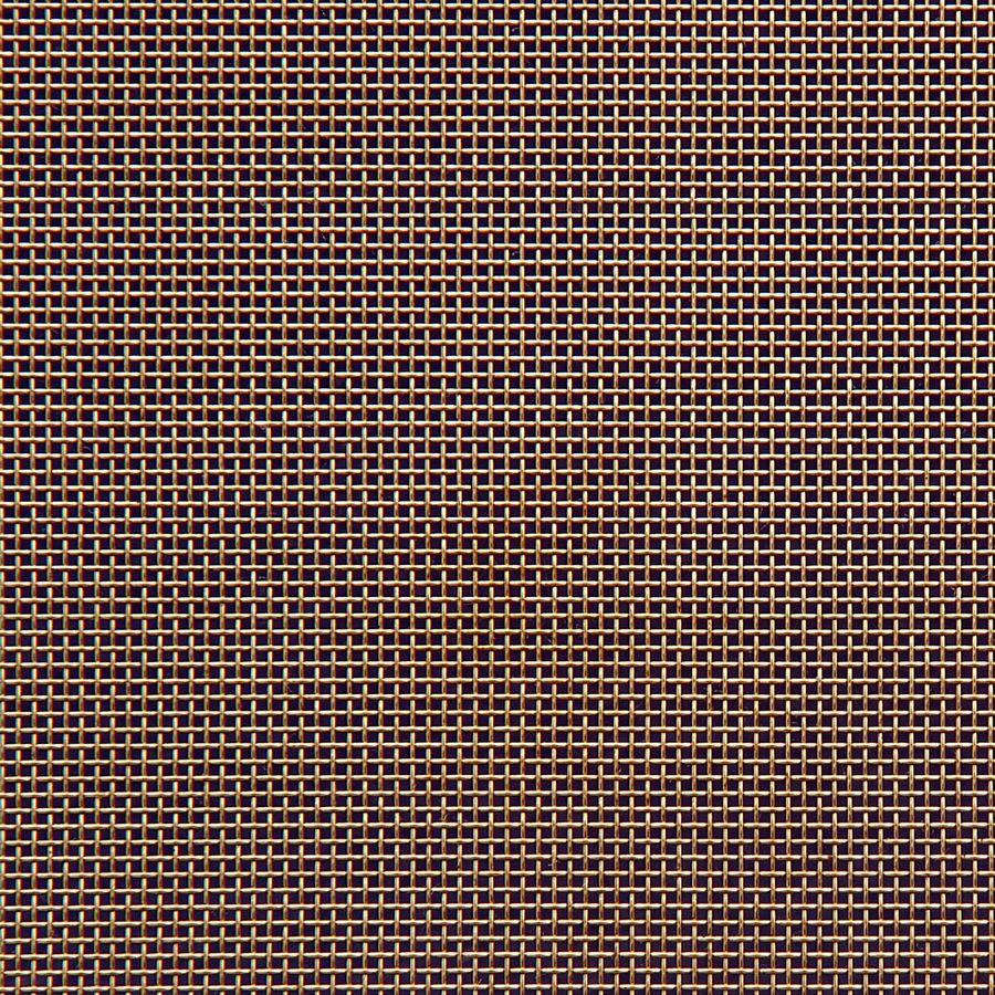 "McNICHOLS® Wire Mesh Square, Brass, Brass Alloy, Woven - Plain Weave, 16 x 16 Mesh (Square), 0.0445"" x 0.0445"" Opening (Square), 0.018"" Thick (26-1/4 Gauge) Wire Diameter, 51% Open Area"
