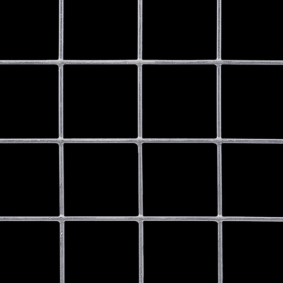 "McNICHOLS® Wire Mesh Square, VINYLMESH™, Galvanized, PVC Coated Black, Welded - Trimmed, 2"" x 2"" Mesh (Square), 1.9200"" x 1.9200"" Opening (Square), 0.080"" Thick (14 Gauge) Wire Diameter, 92% Open Area"