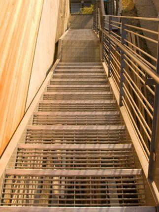 Bar Grating stairway