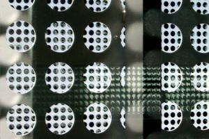 Metal Panel with three-inch round perforated holes - Small